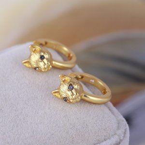 Kate Spade Cute Golden Cat Earrings